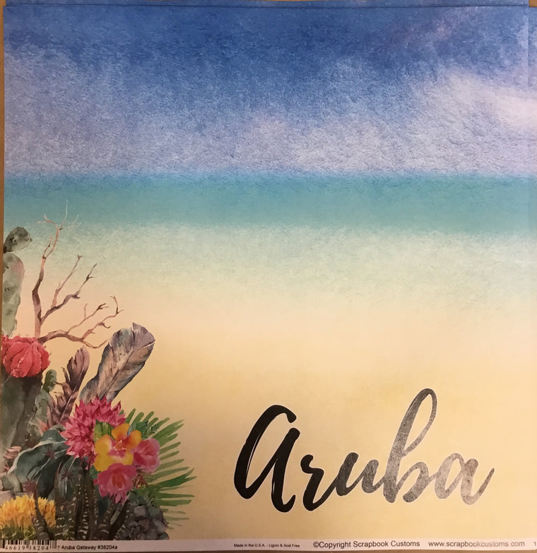 Aruba 12x12 single sheet