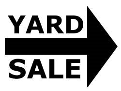 YARD SALE    121 - 200 TAGS     NOVEMBER 9TH, 10TH AND 11TH