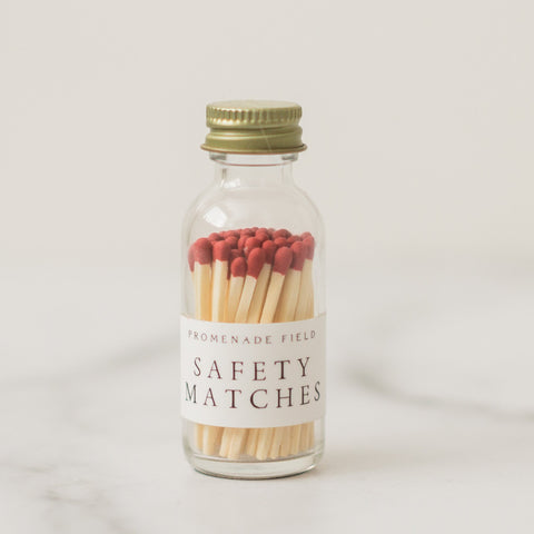 matches in glass jar
