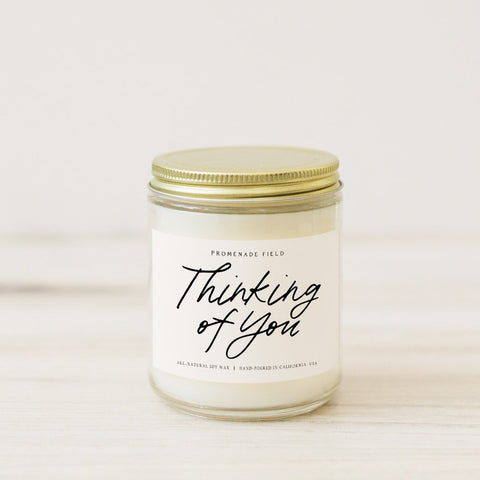 thinking of you candle gift