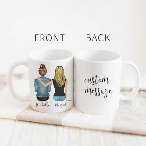 Best friends portrait mugs