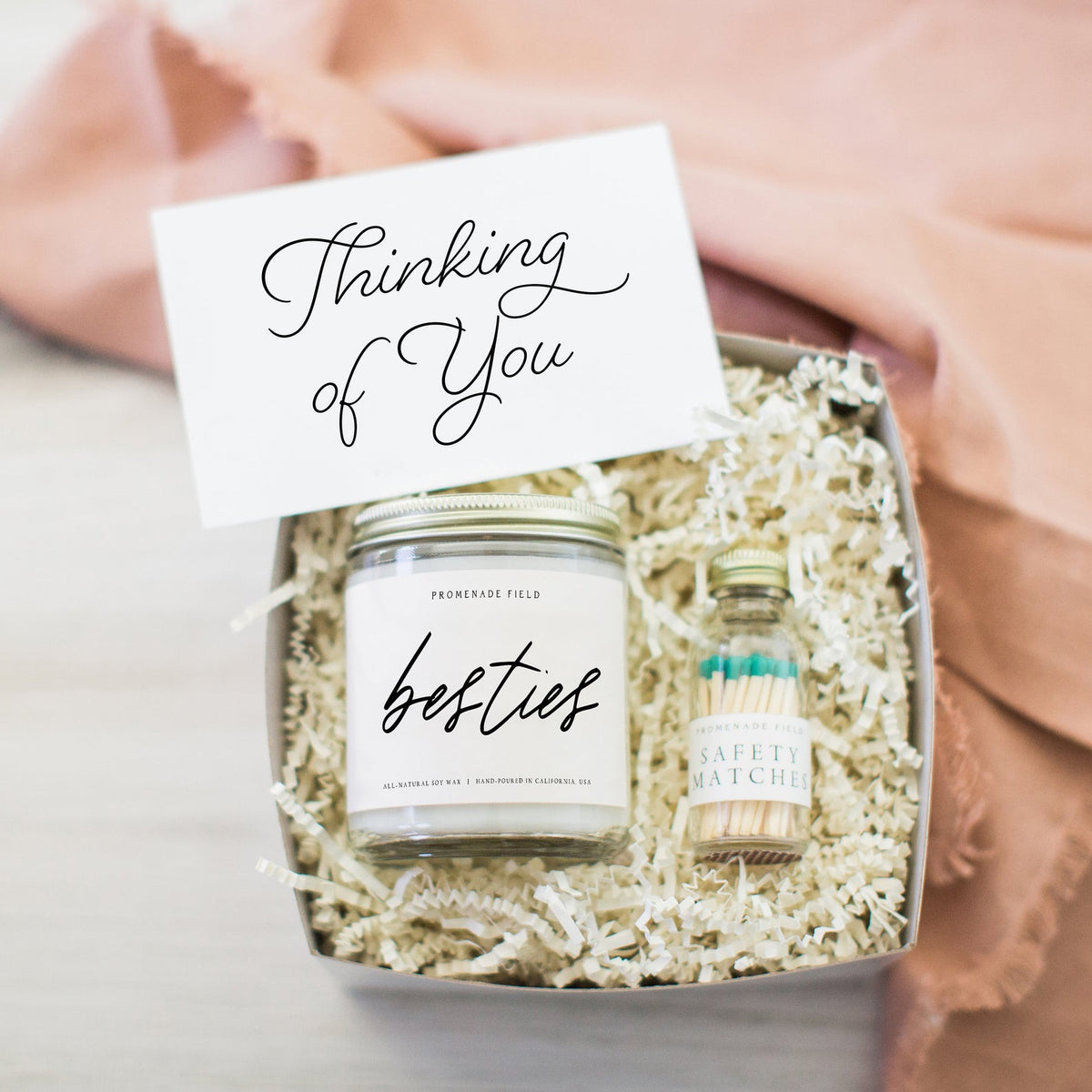 Besties Candle & Matches Gift Box