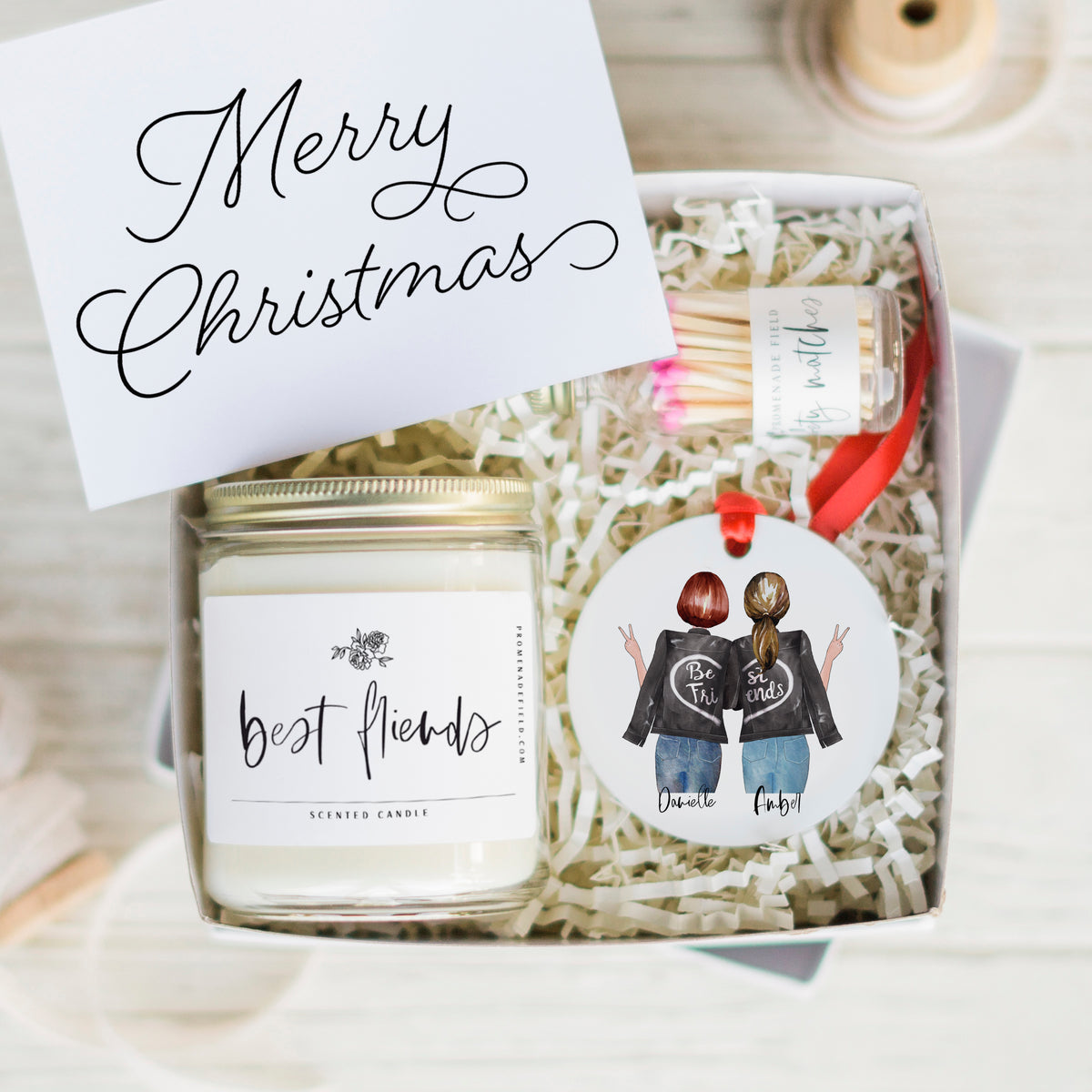 The Best Friends Candle & Ornament Gift Set