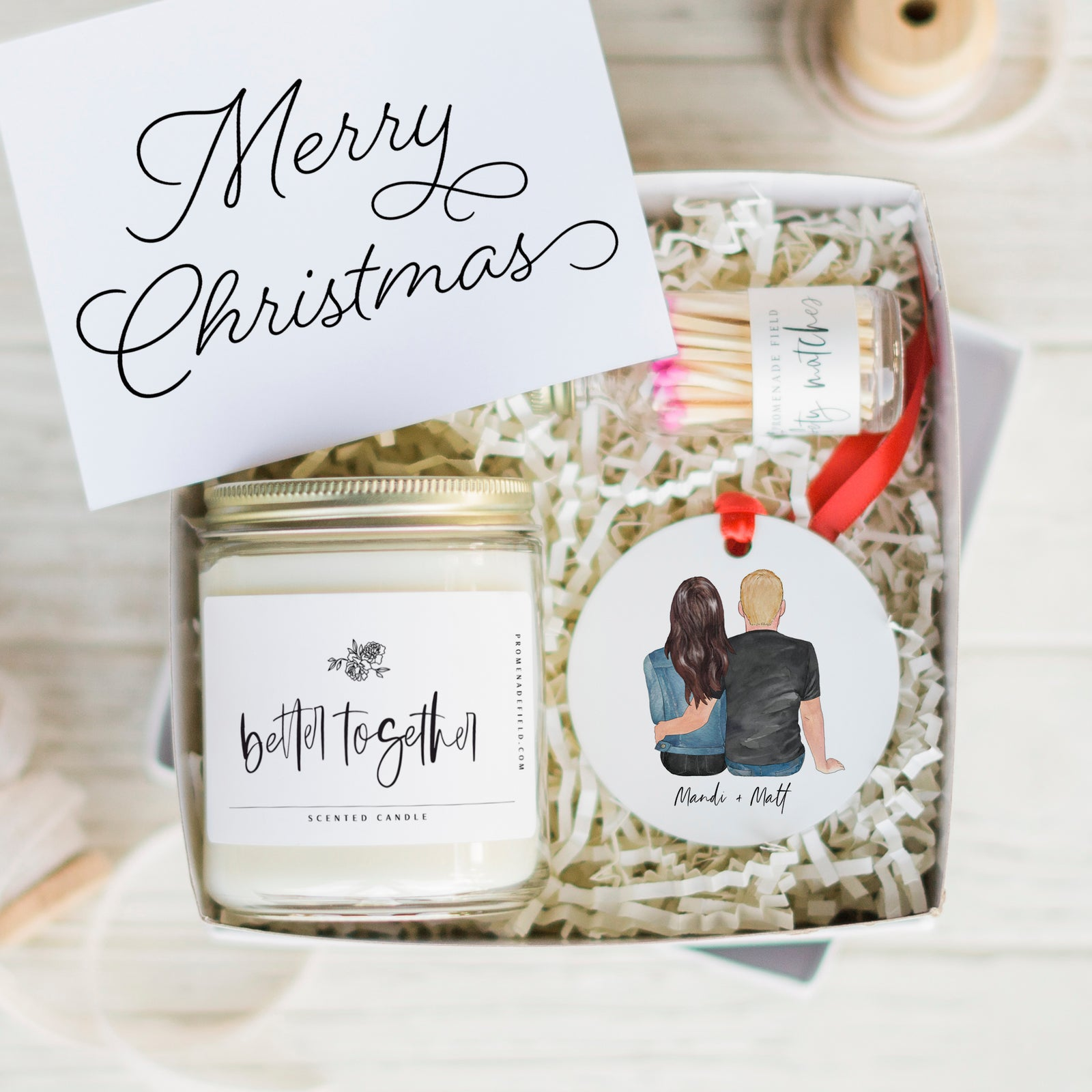 Personalized Gift Boxes Promenade Field Tagged The Couples Candle Ornament Gift Set