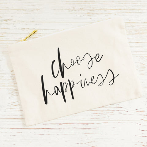 Choose Happiness Cosmetic Bag