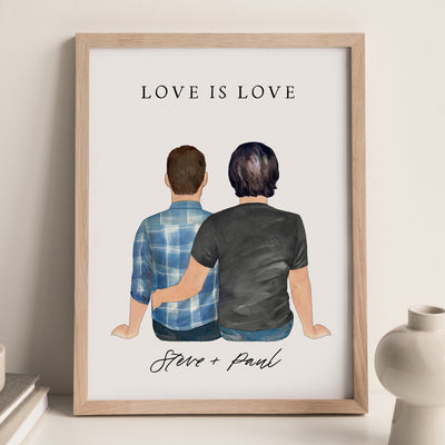 Couples Wall Print (2 Males Version)