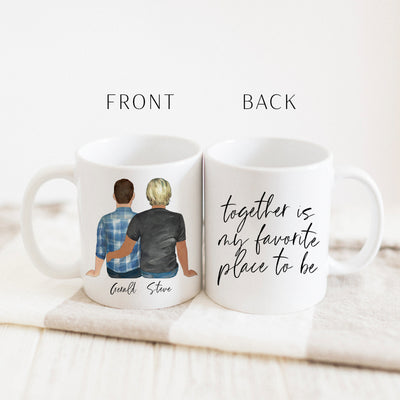 The Couples Mug & Candle Gift Set (Gay Couple Version)