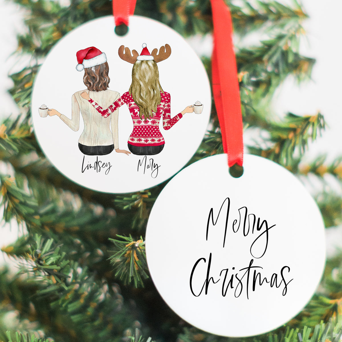 The Holiday Portraits Candle & Ornament Gift Set