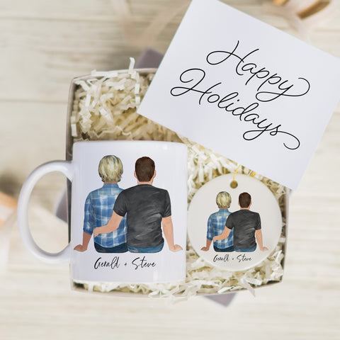 The Couples Mug & Ornament Gift Set (Gay Couple Version)
