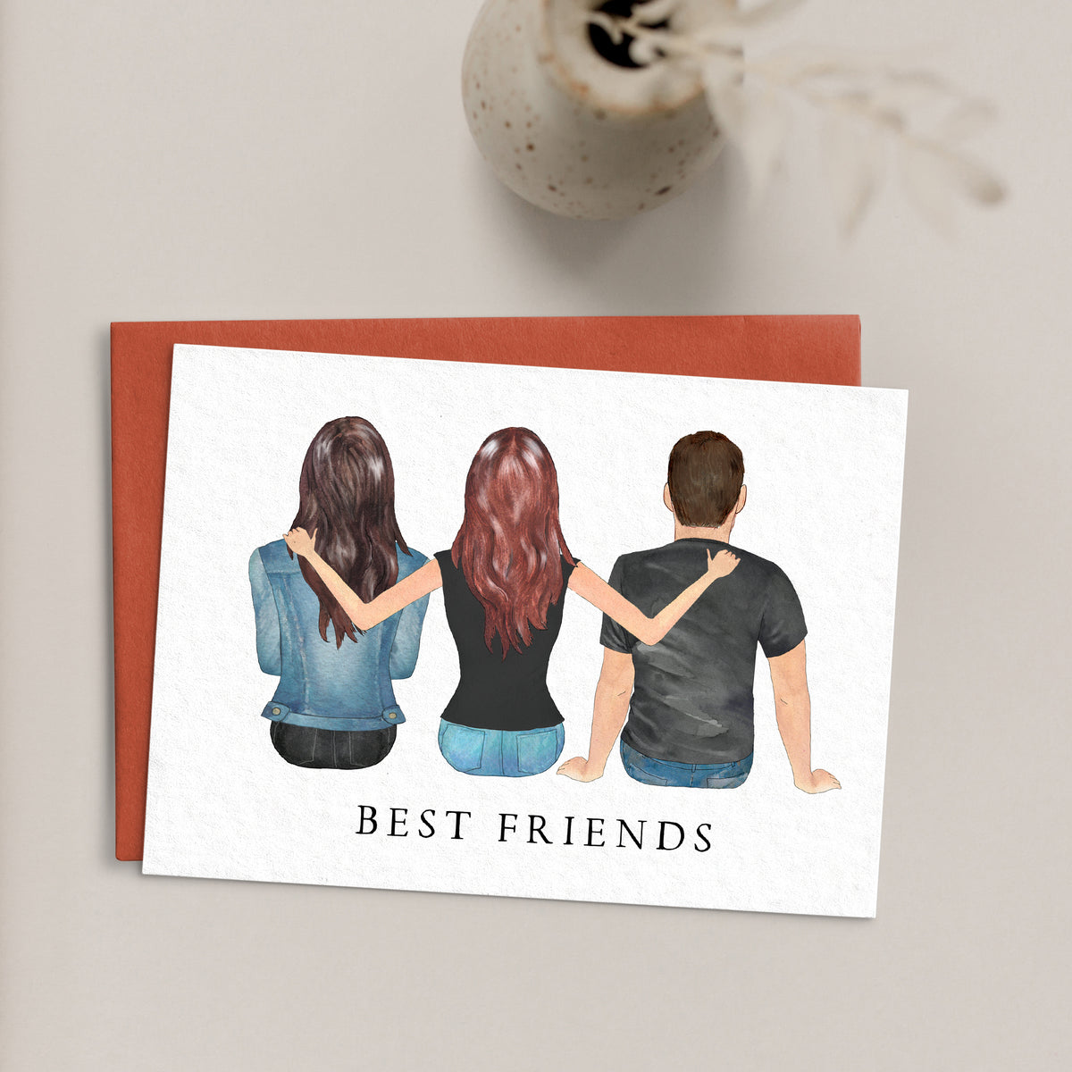Portraits Greeting Card (3 People)