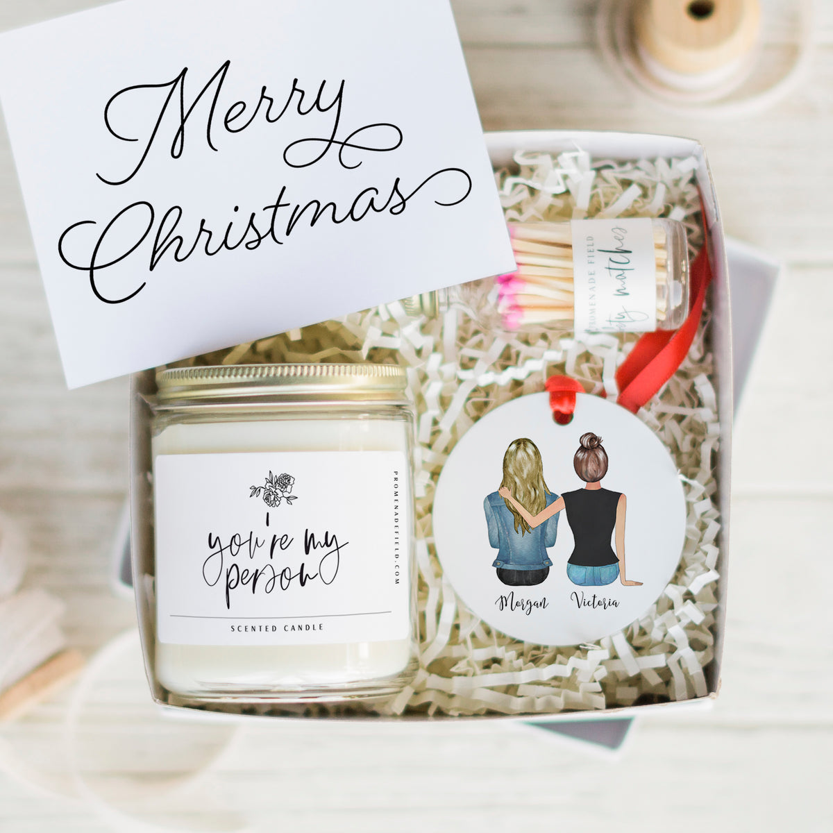 The Portraits Candle & Ornament Gift Set