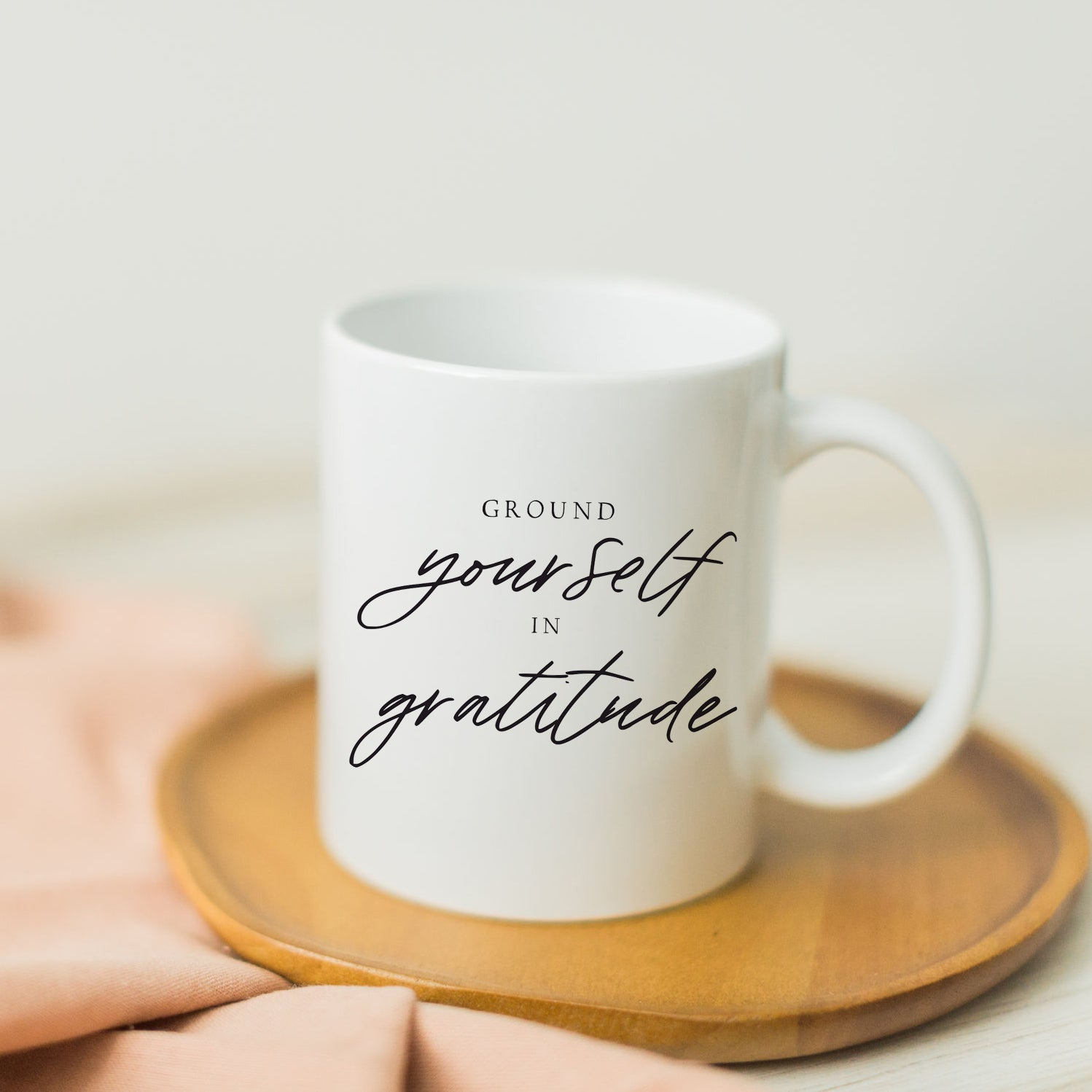 Ground Yourself In Gratitude Mug