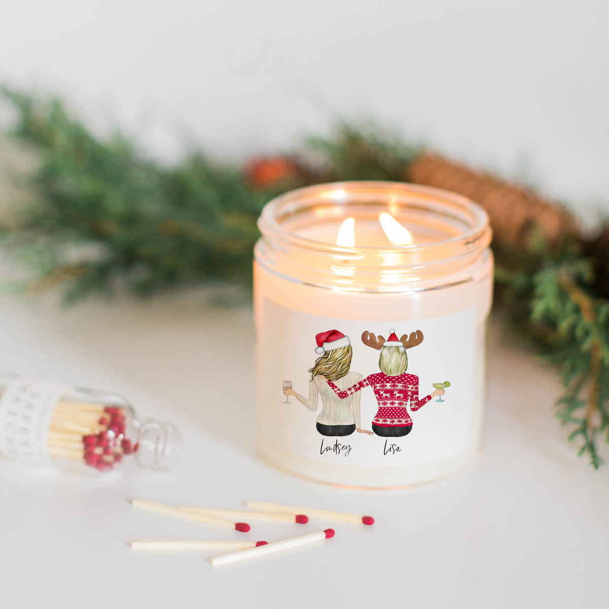 Holiday Portraits Candle & Royal Treatment Tea Gift Set