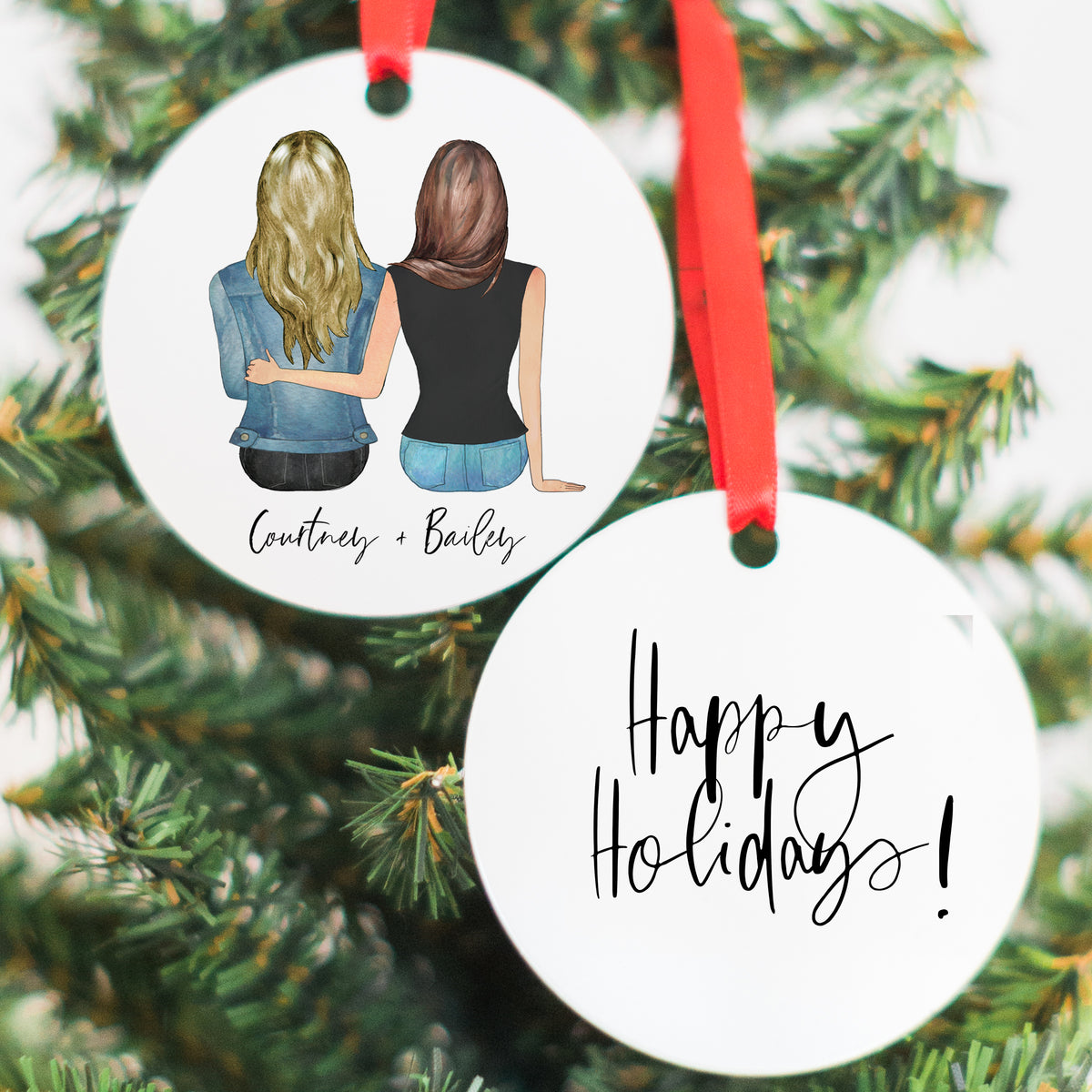 The Couples Mug & Ornament Gift Set (2 Females Version)