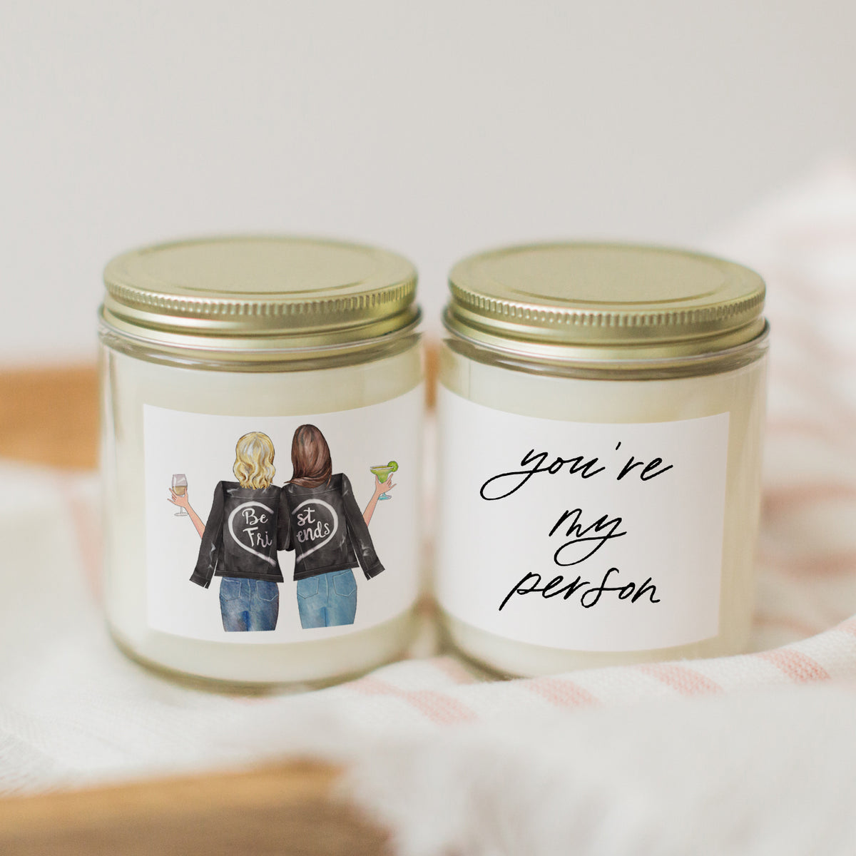 Best Friends Portrait Candle