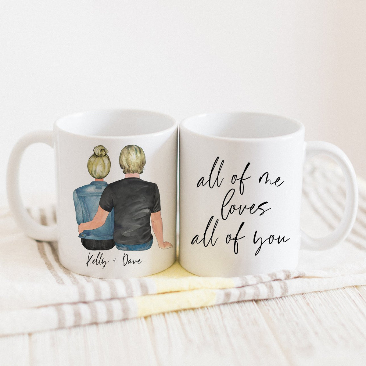 The Couples Mug & Candle Gift Set (Female + Male Version)