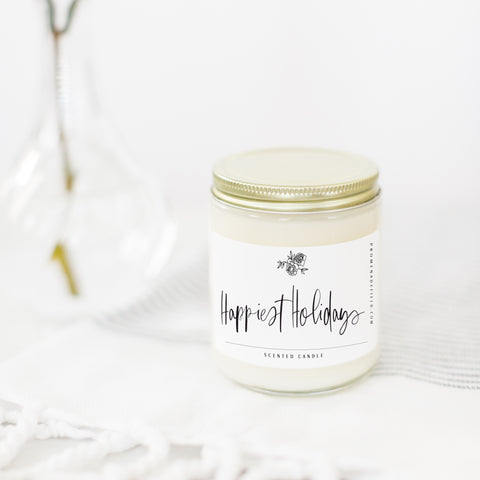 Happiest Holidays Candle