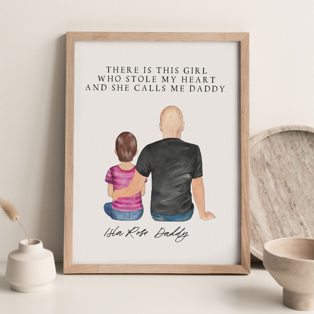 Portraits Wall Print (Male & 1 Child)