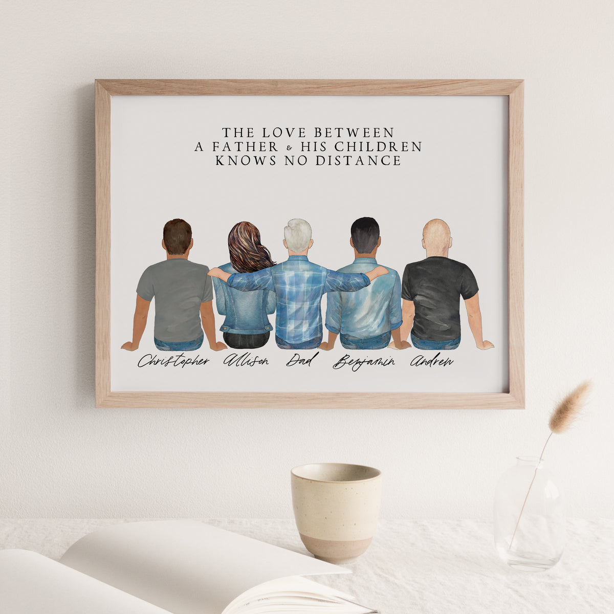 Portraits Wall Print (5 People)