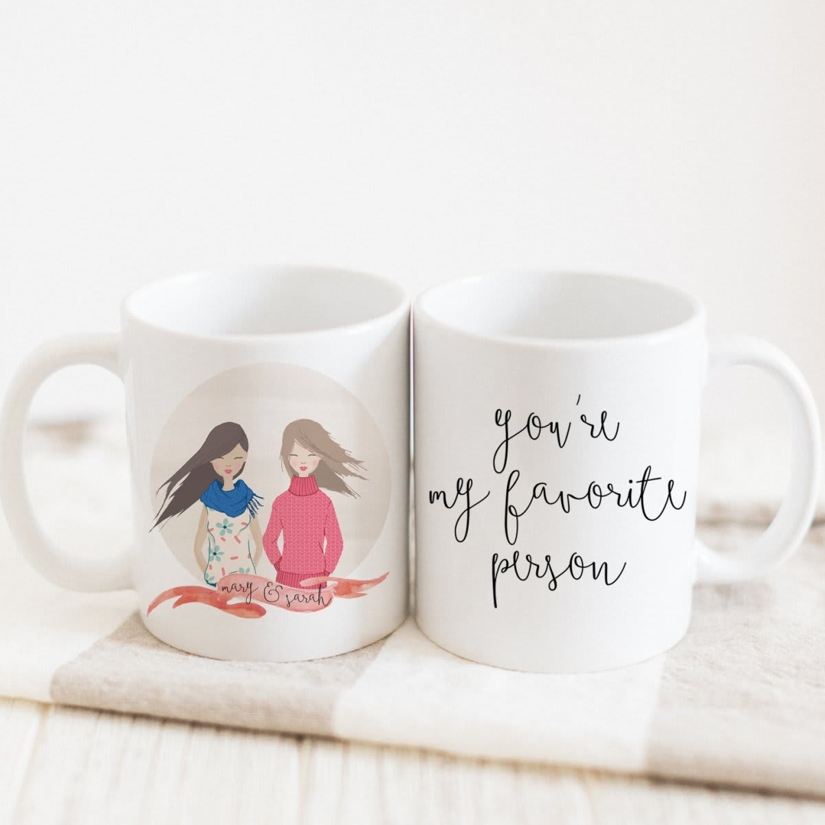 You're My Favorite Person Portrait Mug