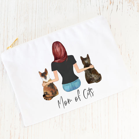 Pet Portraits Cosmetic Bag [GIRL & 2 PET]