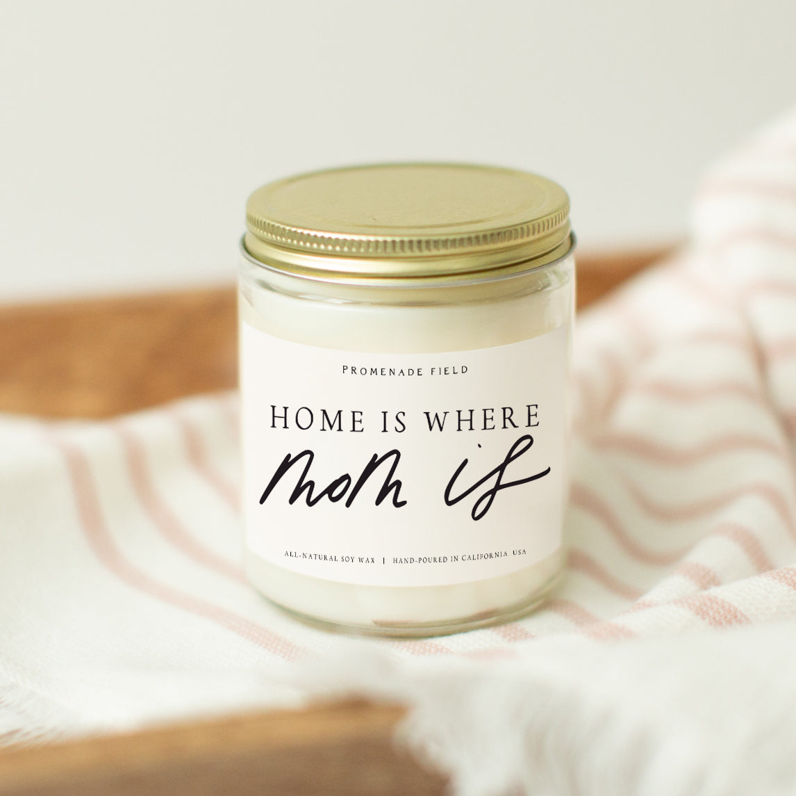 Home Is Where Mom Is Candle