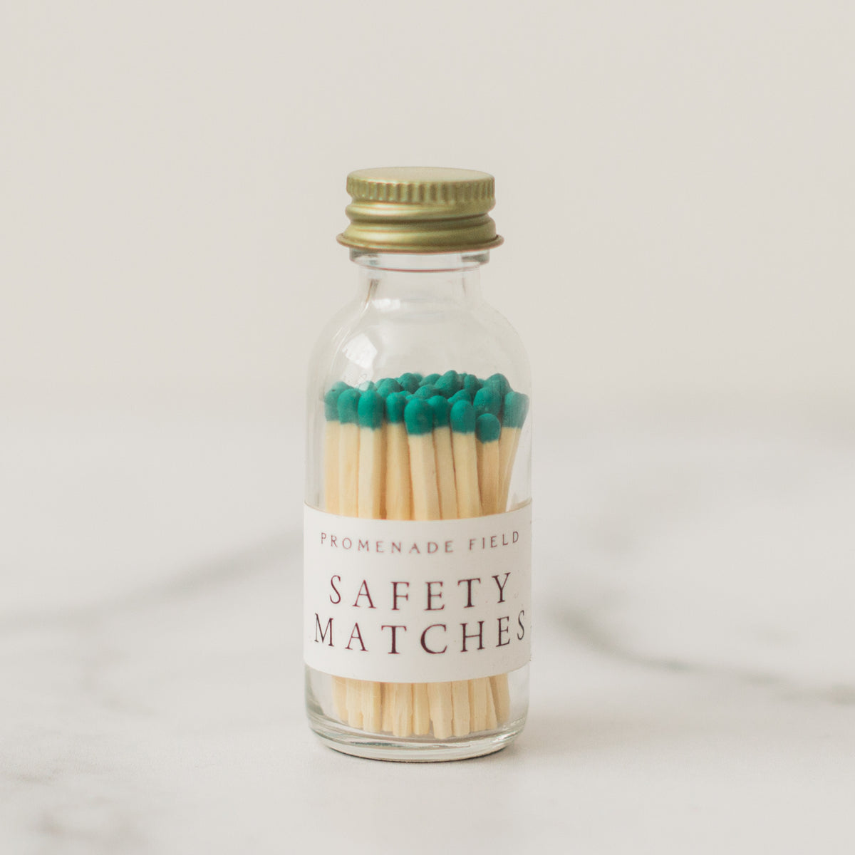Teal Safety Matches
