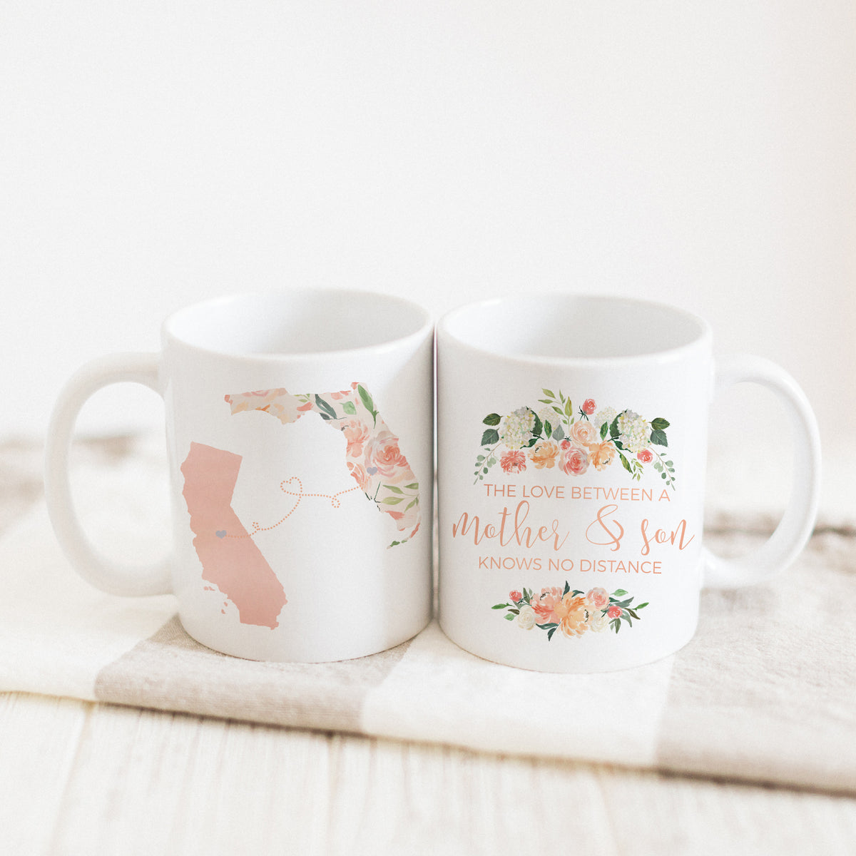 The Love Between A Mother & Son Knows No Distance Mug