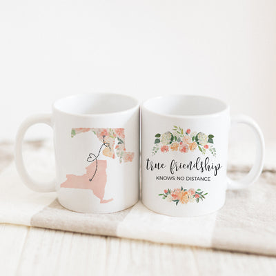 True Friendship Knows No Distance Mug