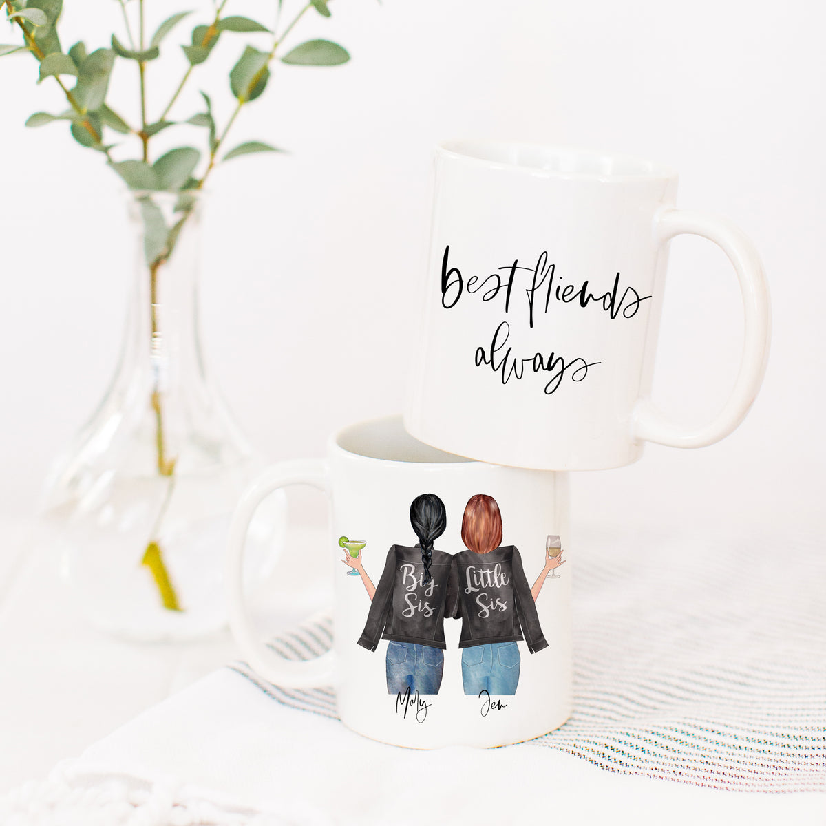 Big Sis Lil Sis Mug & Ornament Gift Set