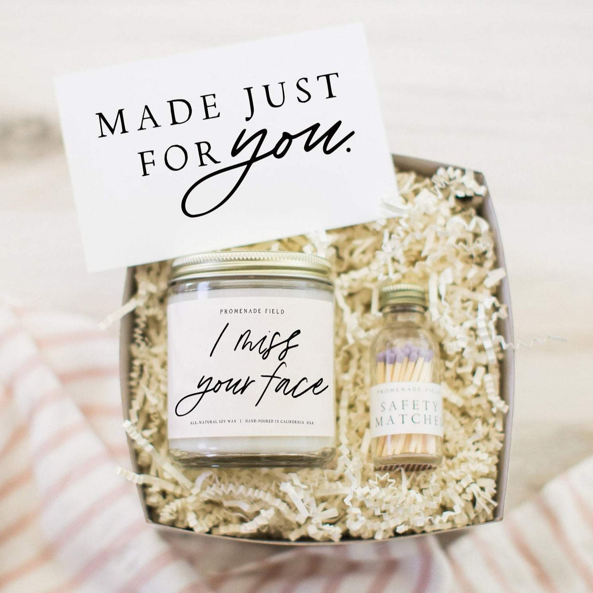I Miss Your Face Candle & Matches Gift Box