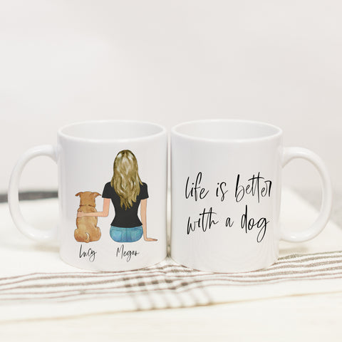 Pet Portraits Mug (GIRL VERSION)