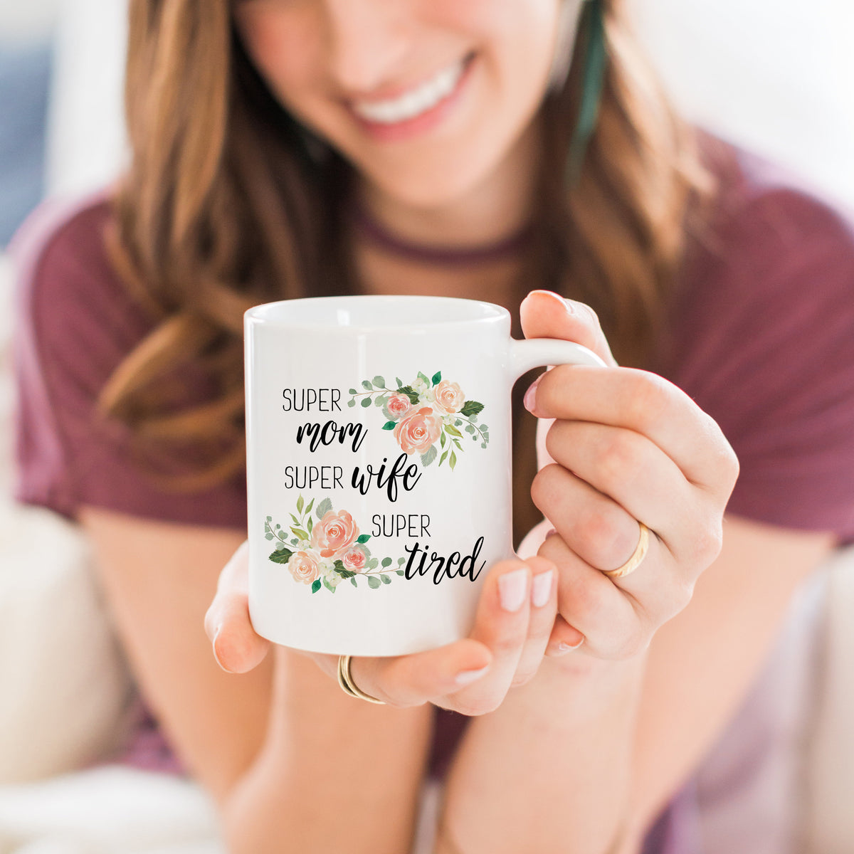 Super Mom Super Wife Super Tired Mug