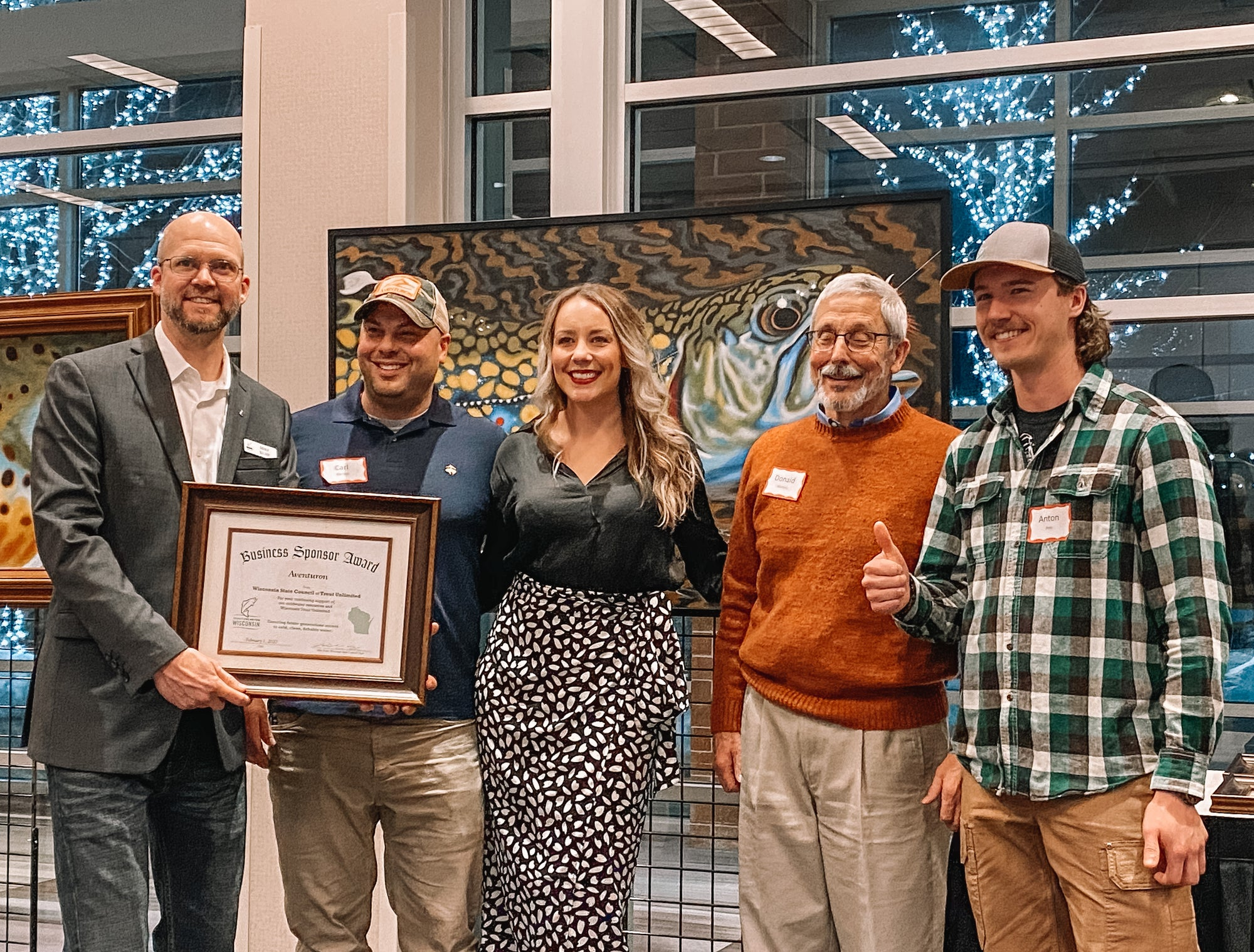 Corporate Sponsor Award: 2020 Wisconsin Trout Unlimited Banquet