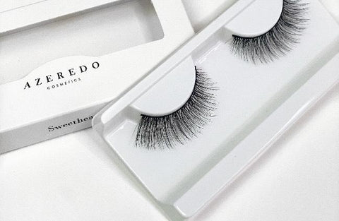 Azeredo Cosmetics.  The Sweetheart lash has a natural winged effect.