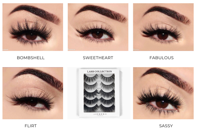This is our full Silk eyelash collection which includes our 3D double layered lashes and our lightweight hand tied lashes. Get ready to transform your look with Azeredo Lashes!