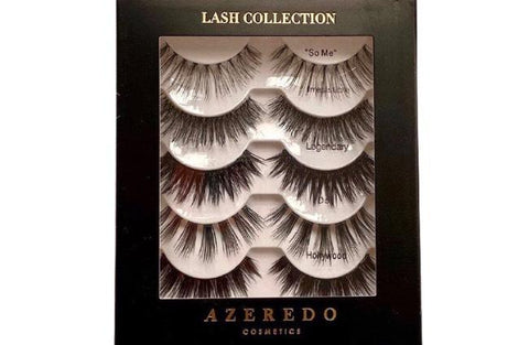 Azeredo Cosmetics lashes.  Synthetic fiber eyelash collection