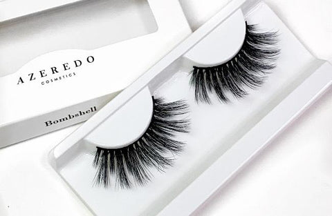 The Bombshell  silk lash, a best seller with a thinner lash band