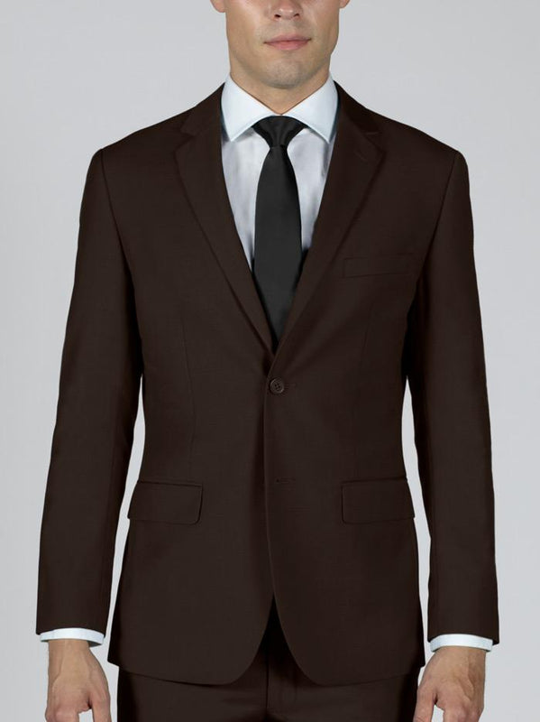 Brown Two Button Suit