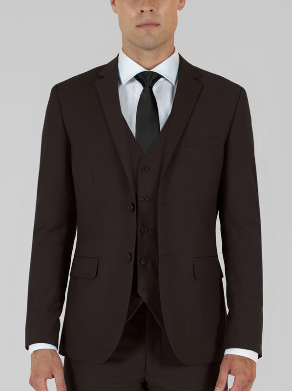 Brown Three Piece Suit