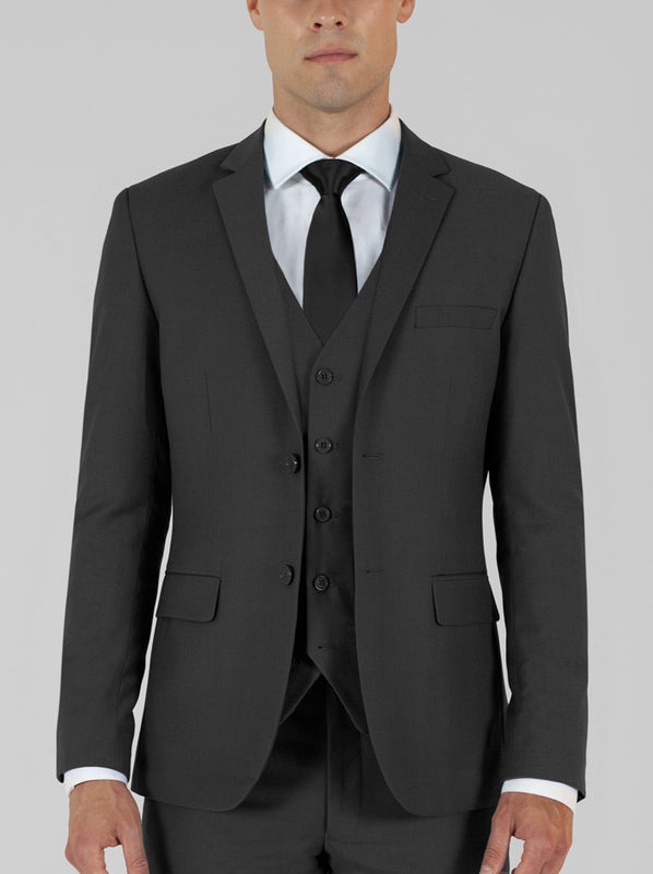 Charcoal Grey Three Piece Suit (Darker Shade)