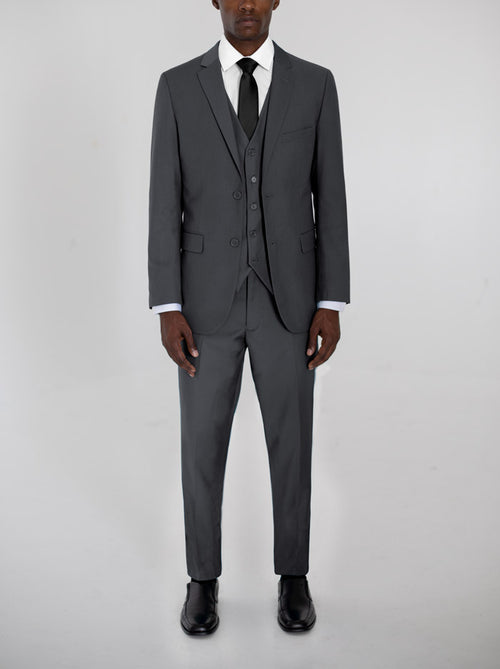 Charcoal Grey Three Piece Suit
