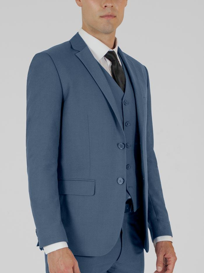 Slate Blue Three Piece Suit