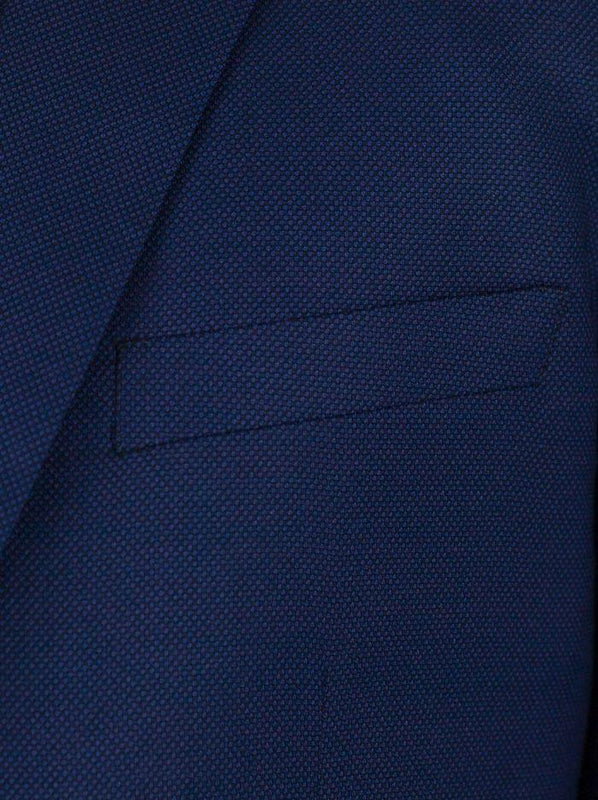 Blue Birdseye Two Button Suit