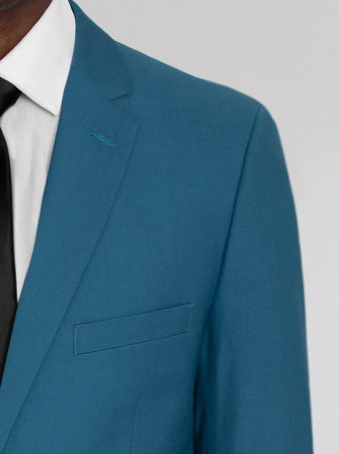 Peacock Green Two Button Suit