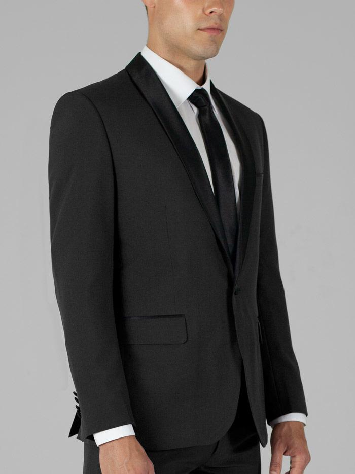 BLACK TUXEDO WITH SHAWL LAPEL
