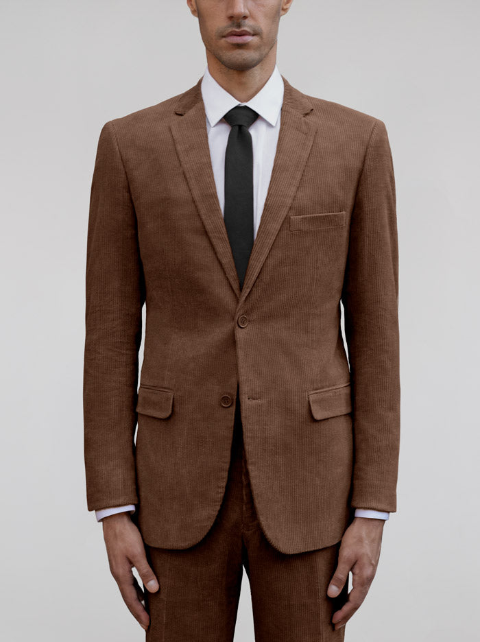 BROWN DOUBLE BREASTED SUIT