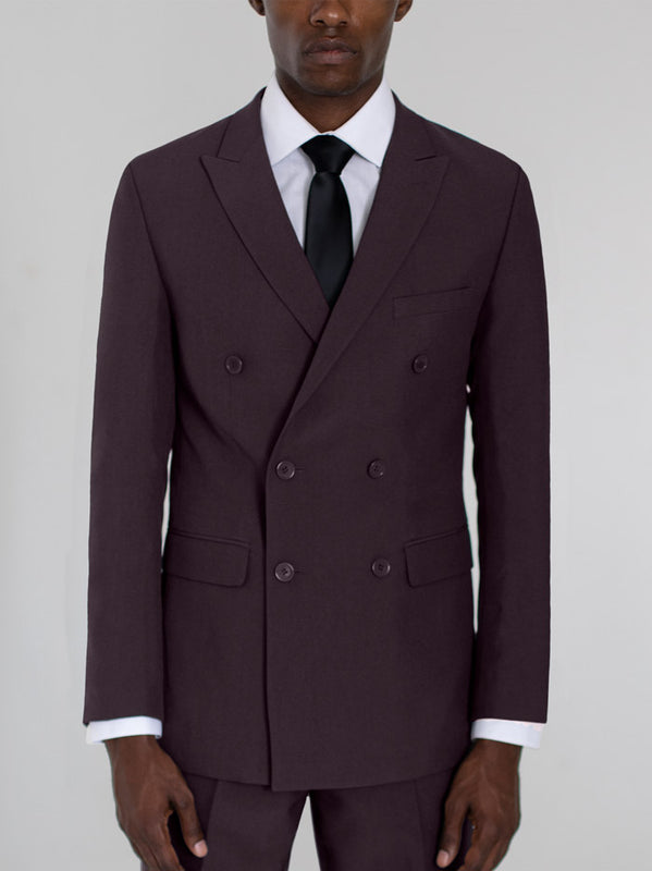 BURGUNDY DOUBLE BREASTED TR SUIT