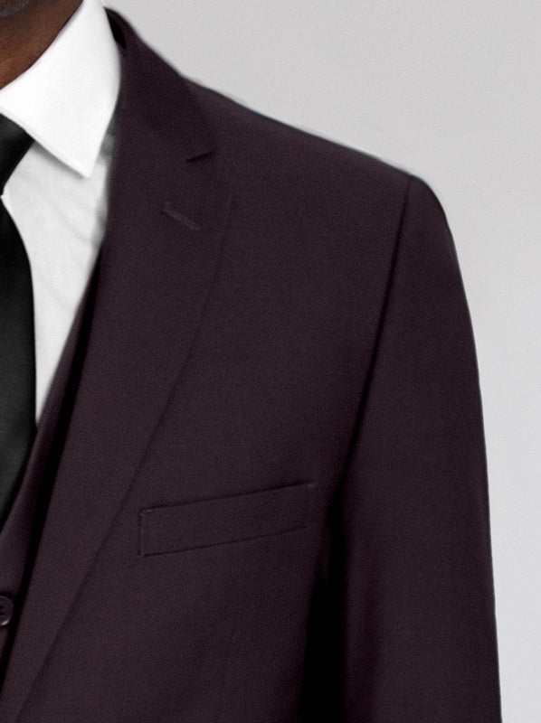 Burgundy Three Piece Suit