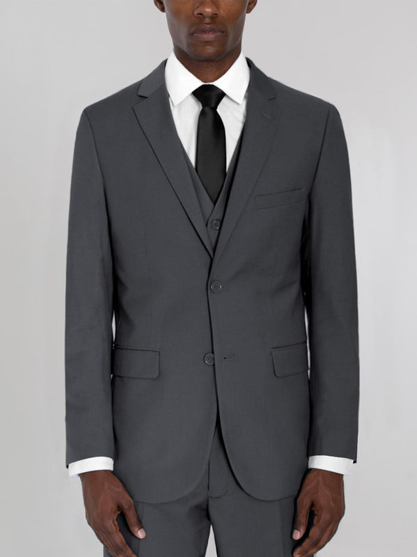 CHARCOAL GREY THREE PIECE TR SUIT